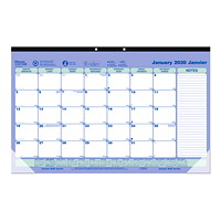 Blueline Monthly Desk Pad/Wall Calendar, 17 3/4