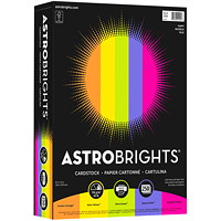Astrobrights Coloured Cardstock Paper, Happy 5-Colour Assortment, Letter-Size, FSC Certified, 65 lb., Ream