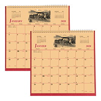 Brownline Monthly History Wall Calendar, 11