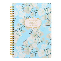 Letts Bloom Weekly Planner, Blue Cover, 8 1/4