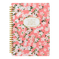 Letts Bloom Weekly Planner, Pink Cover, 8 1/4