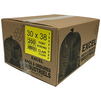 Eco II Manufacturing Inc. Garbage Bags, Clear, Strong, 30