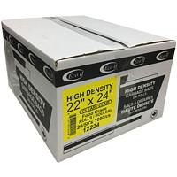 Sacs à ordures Eco II Manufacturing Inc., transparent, haute densité, qualité alimentaire, 22po x 24po, caisse de 1000 (rouleaux 20/50's)