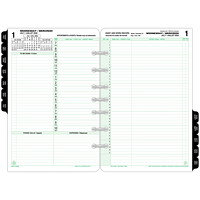 Day-Timer Daily Planner Refill, 8 1/2