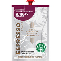 Flavia Starbucks Single-Serve Coffee Freshpacks, Espresso Dark Roast, 72/CT
