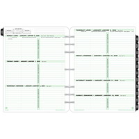 Day-Timer 12-Month Weekly Planner Refill, 8 1/2