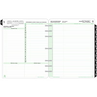Day-Timer 12-Month Daily Planner Refill, 8 1/2