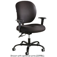 Safco Alday 24/7 Intensive-Use Ergonomic Task Chair, Black, Fabric