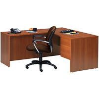 Global Genoa Series L-Shaped Single-Pedestal Desk, Avant Honey, 60