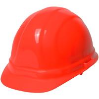 Casque de protectionOmegade type1 ERB, orange haute visibilité, verrou à glissière pour la suspension
