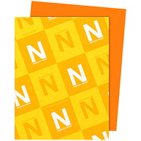 Neenah Astrobrights Orbit Orange Paper, Letter-Size, FSC And Green Seal Certified, 24 lb., Ream