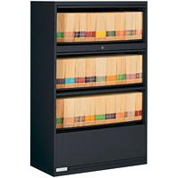 Classeur latéral à 4 tiroirs 9100 Global, noir, 36poL x 18poP x 54poH