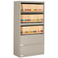 Classeur latéral à 5 tiroirs 9100 Global, beige nevada, 36po x 18po x 654/5po