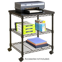 Safco Wire Mobile Cart/Machine Stand, Black
