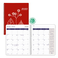 Blueline Joyful DuraGlobe Sugar Cane Monthly Planner, 8 7/8