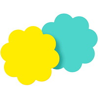 Post-it Super Sticky Die-Cut Notes, Daisy, Yellow/Blue, 3