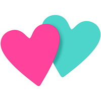 Post-it Super Sticky Die-Cut Notes, Heart, Pink/Blue, 3