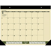 At-A-Glance Recycled Monthly Desk Pad Calendar, 22