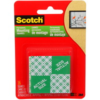 Scotch Indoor Mounting Squares, Double-Sided 1