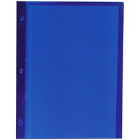 Winnable Translucent Poly Report Cover with 3-Prong Fasteners, Blue, Letter Size