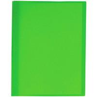 Couvertures de présentation en poly translucide avec attaches à trois broches Winnable, vert, format lettre