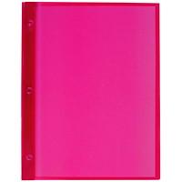 Couvertures de présentation en poly translucide avec attaches à trois broches Winnable, rouge, format lettre