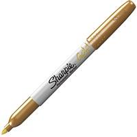 Sharpie Metallic Permanent Marker, Gold, Fine Tip