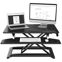 Exponent Portable Sit-Stand Workstation, Black