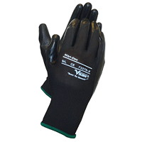 Viking 73376 Nitri-Dex Work Gloves, Black, Large, 1 Pair