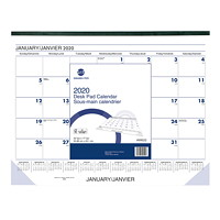 Grand & Toy Monthly Desk Pad Calendar, 21 3/4