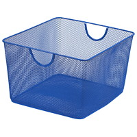 Merangue Mesh Office Storage Basket, Blue