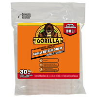 Gorilla Hot Glue Sticks, Full Size, 4