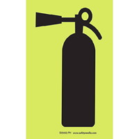 Safety Media Photoluminescent (Glow-In-The-Dark) Fire Extinguisher Sign