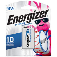 Energizer 9V Ultimate Lithium Batteries, 1/PK