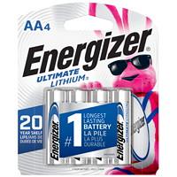 Piles Ultimate Lithium Energizer AA, emb. de 4