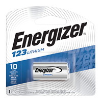 Energizer CR123 Lithium Battery, 1/PK
