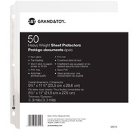 Grand & Toy Heavyweight Sheet Protectors, Clear, Letter Size, 50/PK