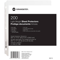 Grand & Toy Lightweight Sheet Protectors, Non-Glare, Letter Size, 200/PK