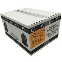 Sacs à ordures industriels Eco II, noir, 3mils, 42po x 48po, caisse de 50