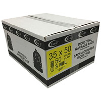 Eco II Industrial Garbage Bags, Clear, 3 MIL, 35
