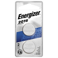 Energizer 2016 Button Cell Batteries, 2/PK