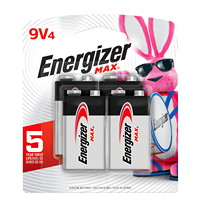 Energizer Max Long-Life 9V Alkaline Batteries, 4/PK (522BP4)