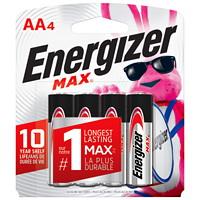 Piles alcalines AA longue durée Energizer Max, emb. de 4 (E91BP4)