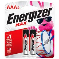 Piles alcalines AAA longue durée Energizer Max, emb. de 2 (E92BP2)