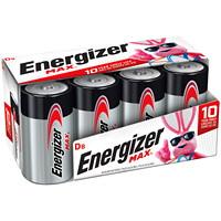 Piles alcalines D longue durée Energizer Max, emb. de 8 (E95FP-8)