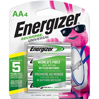 Piles rechargeables AA NiMH Energizer Recharge Universal, emb. de 4 (UNH15BP4)