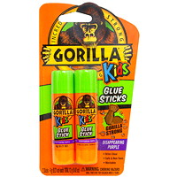 Gorilla Kids School Glue Sticks, 6 g, 2/PK
