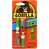Gorilla Super Glue, Gel, 3 g, 2/PK