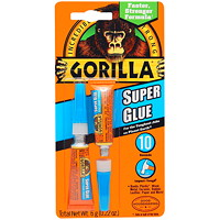 Gorilla Super Glue, Liquid, 3 g, 2/pk