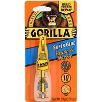 Gorilla Super Glue Brush and Nozzle, Clear, 10 g